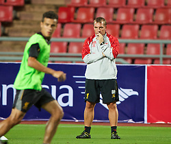 BANGKOK, THAILAND - Saturday, July 27, 2013: Liverpool's manager Brendan Rodgers during a training session at the Rajamangala National Stadium ahead of their preseason friendly match against Thailand. (Pic by David Rawcliffe/Propaganda)