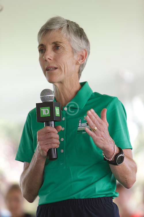 Joan Samuelson, Beach to Beacon 10K race founder , elite athlete and charity recipient (Center For Grieving Children) press conference , Joan Benoit Samuelson