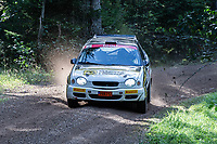 2019-09-07 | Linköping, Sweden: Johan Holmberg / Christoffer Bäck  during East Rally Sweden / Rally SM  at Linköping ( Photo by: Simon Holmgren | Swe Press Photo )<br /> <br /> Keywords: Linköping, Linköping, Rally, East Rally Sweden / Rally SM, ,