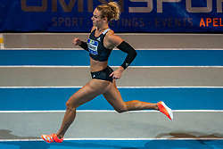 Lieke Klaver in action on 400 meter during the Dutch Indoor Athletics Championship on February 23, 2020 in Omnisport De Voorwaarts, Apeldoorn