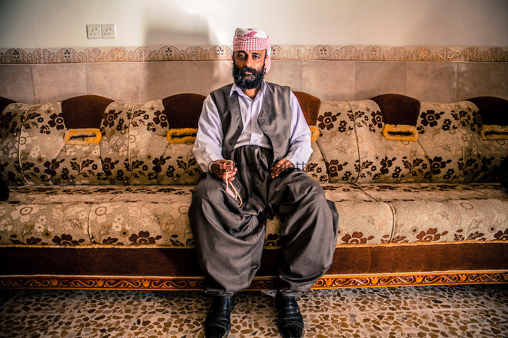 Hussein Elias, a young Kawal (Yaidi's priest). He has been chosen by his family to become kawal. it's the biggest honor for a Yazidi man. He has been chosen as future priest by his father when he was only 11