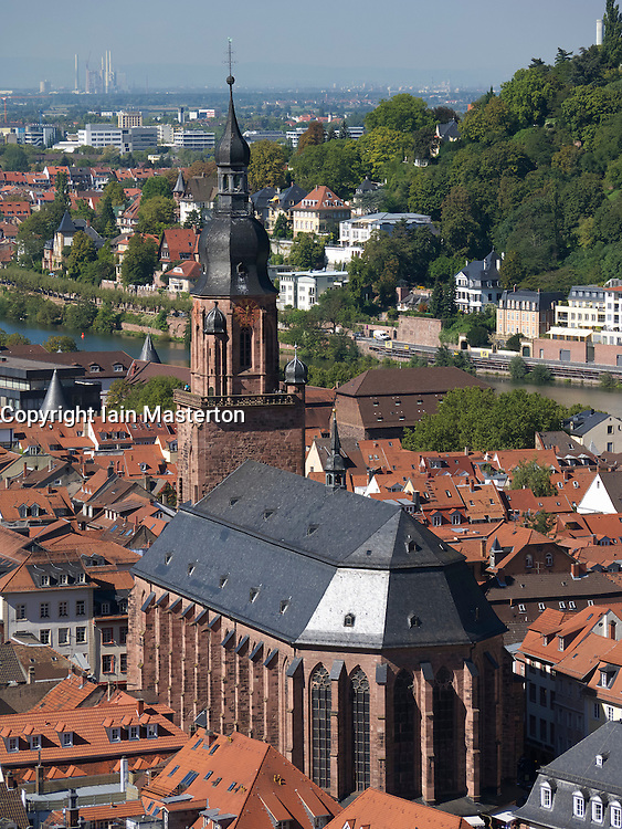 Church of the Holy Spirit  or Gothic Heiliggeistkirche  in City of Heidelberg in Baden-Wurttemberg Germany