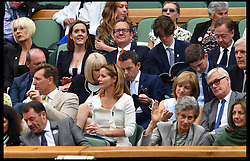 July 11, 2017 - London, London, United Kingdom - Image ©Licensed to i-Images Picture Agency. 11/07/2017. London, United Kingdom. Wimbledon Tennis Championships 2017-Day Eight. Sunday Express Royal Editor Camilla Tominey with her husband Martin   in the royal box for the Novak Djokovic v Adrian Mannarino match on centre court at Wimbledon. Picture by Andrew Parsons / i-Images (Credit Image: © Andrew Parsons/i-Images via ZUMA Press)