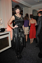 DAISY LOWE at Quintessentially's 10th birthday party held at The Savoy Hotel, London on 13th December 2010.
