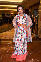Saira Khan at The Asian Awards, The Hilton Park Lane, London England. 5 May 2017.<br /> Photo by Dominic O'Neill/SilverHub 0203 174 1069 sales@silverhubmedia.com