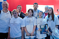 Szymon Kolecki - President of Polish Weightlifting Federation with Special Olympics athletes during weightlifting IWF World Championships Wroclaw 2013 at Centennial Hall in Wroclaw on October 22, 2013.<br /> <br /> Poland, Wroclaw, October 22, 2013<br /> <br /> Picture also available in RAW (NEF) or TIFF format on special request.<br /> <br /> For editorial use only. Any commercial or promotional use requires permission.<br /> <br /> Mandatory credit:<br /> Photo by &copy; Adam Nurkiewicz / Mediasport