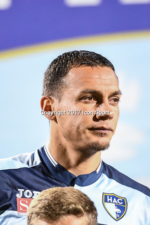 Jean Pascal Fontaine of Le Havre during the Ligue 2 match between Quevilly Rouen and Le Havre on October 27, 2017 in Rouen, France. (Photo by Anthony Dibon/Icon Sport)