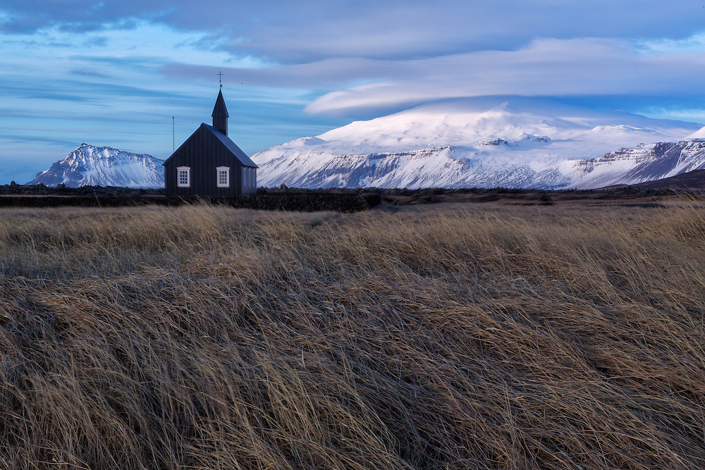 Black Timber Church At Budir Snaefellsnes Peninsula North West Area Iceland