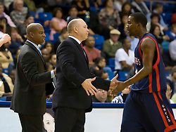 November 30, 2009; San Jose, CA, USA;  Saint Mary's Gaels head coach Randy Bennett and guard Wayne Hunter (24) during the second half against the San Jose State Spartans at the Event Center Arena.  Saint Mary's defeated San Jose State 78-71.