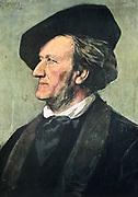 Richard Wagner (1813-1883) German composer in 1882. After the portrait by Franz Seraph von Lenbach.