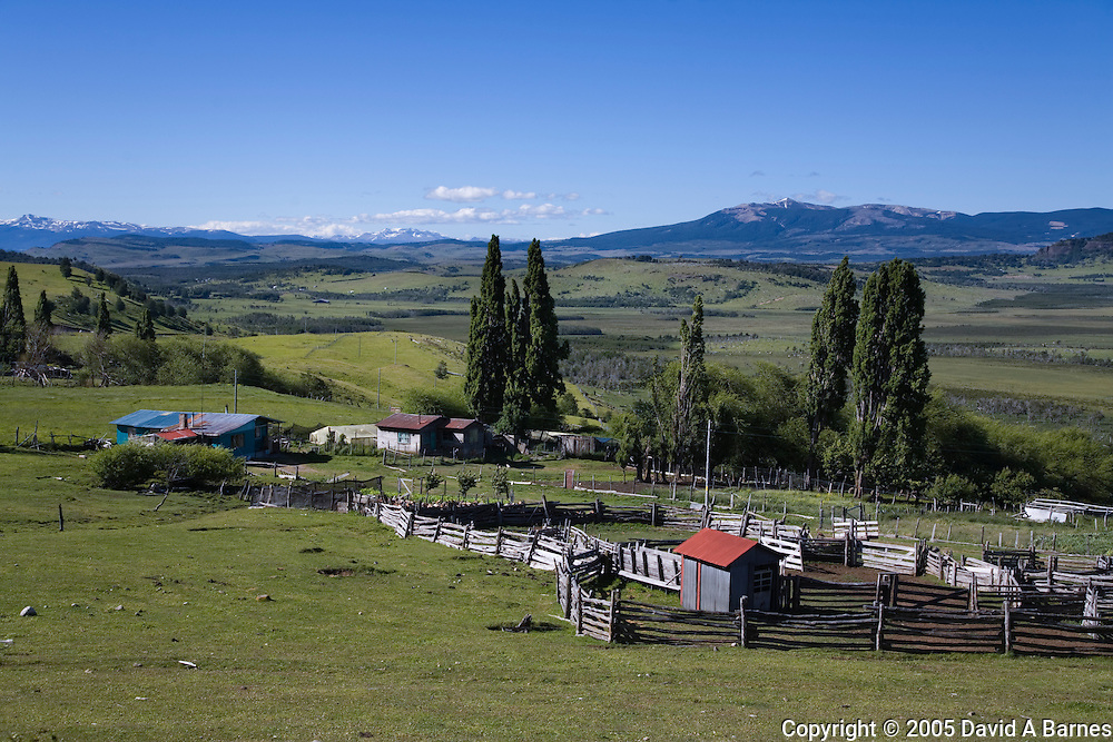 Farm near Coihaique, Patagonia, Chile