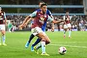 Aston Villa defender Neil Taylor (3) on defensive duties  during the Premier League match between Aston Villa and Everton at Villa Park, Birmingham, England on 23 August 2019.