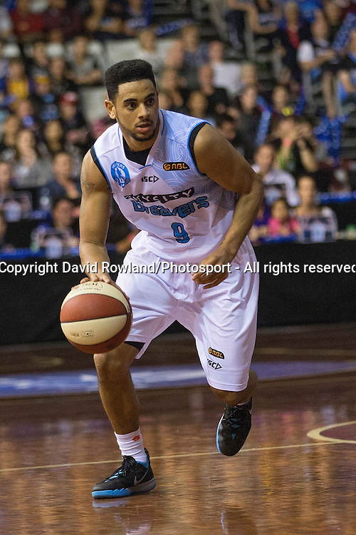 Breakers` Corey Webster in the SkyCity Breakers v Cairns Taipans, 2014/15 ANBL Basketball Season, North Shore Events Centre, Auckland, New Zealand, Thursday, October 23, 2014. Photo: David Rowland/Photosport