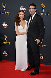 Emmy Rossum & Sam Esmail bei der Verleihung der 68. Primetime Emmy Awards in Los Angeles / 180916<br /> <br /> *** 68th Primetime Emmy Awards in Los Angeles, California on September 18th, 2016***