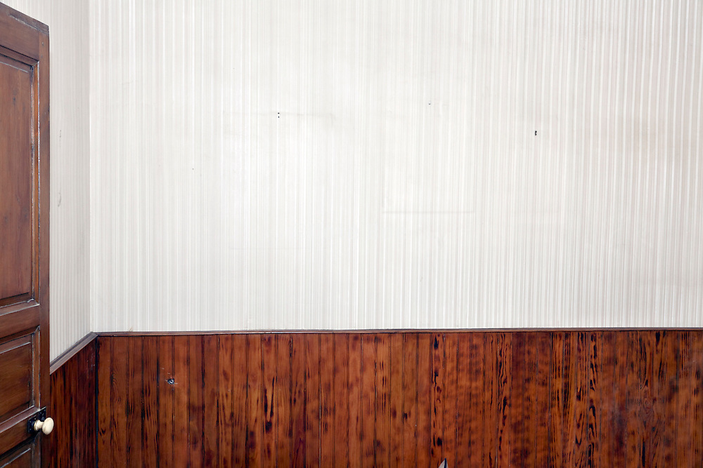wall in abandoned house