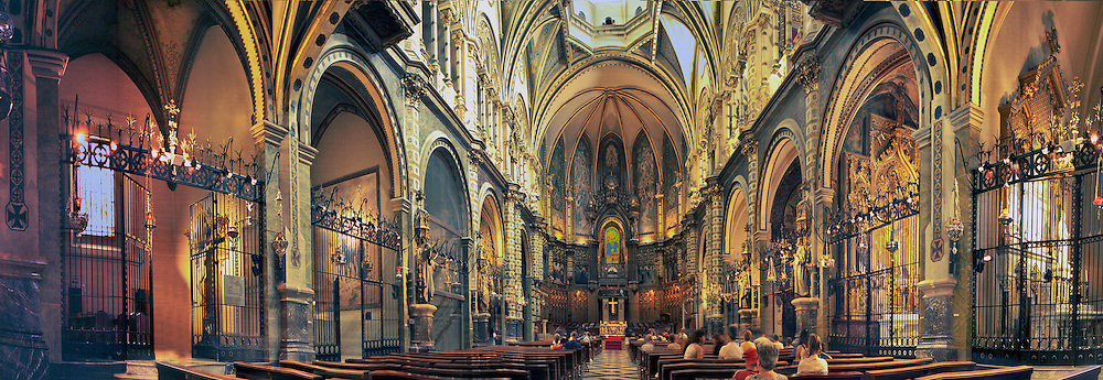Cathedral Montserrat Mountain Basilica, church CGI Backgrounds, ,Beautiful Background