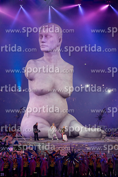 Sculpture Alison Lapper Pregnant of Marc Quinn at Opening ceremony during Day 1 of Summer Paralympic Games London 2012 on August 29, 2012, in Olympic stadium, London, Great Britain. (Photo by Vid Ponikvar / Sportida.com)
