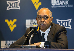 Texas Tech Red Raiders head coach Tubby Smith speaks with the media after losing to West Virginia.
