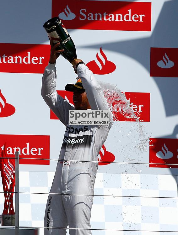 FORMULA 1 SANTANDER BRITISH GRAND PRIX .. Lewis Hamilton winner of the British GP...(c) STEPHEN LAWSON   SportPix.org.uk