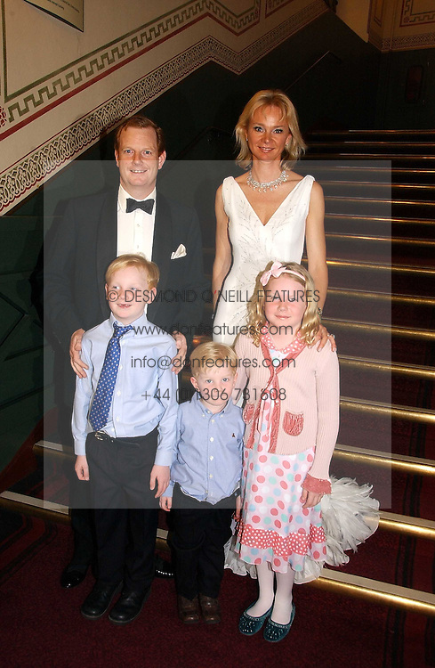 The EARL & COUNTESS OF DERBY with their children LORD STANLEY, the HON.OLIVER STANLEY and the HON.HENRIETTA STANLEY at the NSPCC's Dream Auction held at The Royal Albert Hall, London on 9th May 2006.<br /><br />NON EXCLUSIVE - WORLD RIGHTS