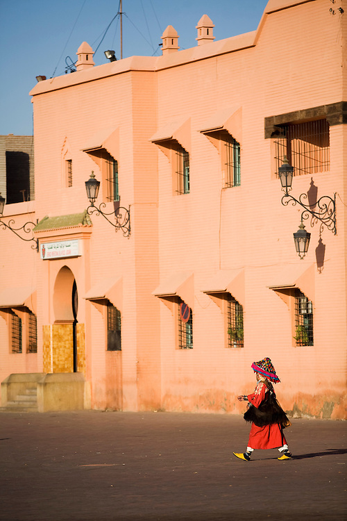The city of Marrakech comes to life in the early morning.