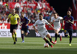 February 23, 2019 - Seville, Madrid, Spain - Ben Yedder (Sevilla FC) seen in action during the La Liga match between Sevilla FC and Futbol Club Barcelona at Estadio Sanchez Pizjuan in Seville, Spain. (Credit Image: © Manu Reino/SOPA Images via ZUMA Wire)