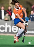 BLOEMENDAAL -  Anna O' Flanagan (Bl'daal)   . hockey hoofdklasse dames Bloemendaal-Den Bosch (0-6) . COPYRIGHT KOEN SUYK