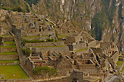 Ruins of the lost city of Machu Picchu. Located in the region of Cusco in Peru.