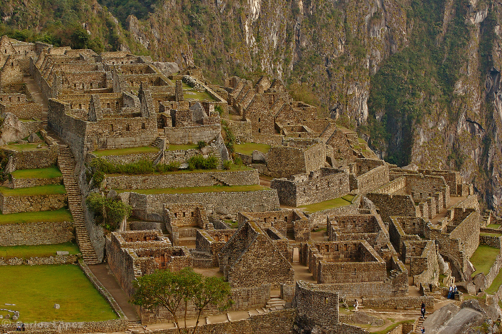 Ruins of the lost city of Machu Picchu. Located in the region of Cusco in Peru.