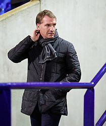 BOLTON, ENGLAND - Wednesday, February 4, 2015: Liverpool's manager Brendan Rodgers before the FA Cup 4th Round Replay match against Bolton Wanderers at the Reebok Stadium. (Pic by David Rawcliffe/Propaganda)