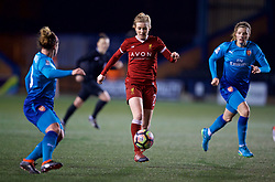 WIDNES, ENGLAND - Wednesday, February 7, 2018: Liverpool's Kate Longhurst during the FA Women's Super League 1 match between Liverpool Ladies FC and Arsenal Ladies FC at the Halton Stadium. (Pic by David Rawcliffe/Propaganda)
