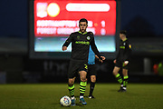 Forest Green Rovers forward (on loan from Celtic) Jack Aitchison (29)  sprints forward with the ball during the EFL Sky Bet League 2 match between Northampton Town and Forest Green Rovers at the PTS Academy Stadium, Northampton, England on 14 December 2019.