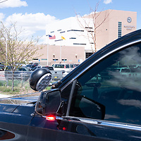 Police vehicles set up a blockade along Boardman Dr. At the entrance to the Gallup Magistrate Court after a bomb threat was called in on Wednesday.