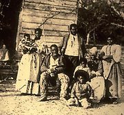 Slave family in the American south.