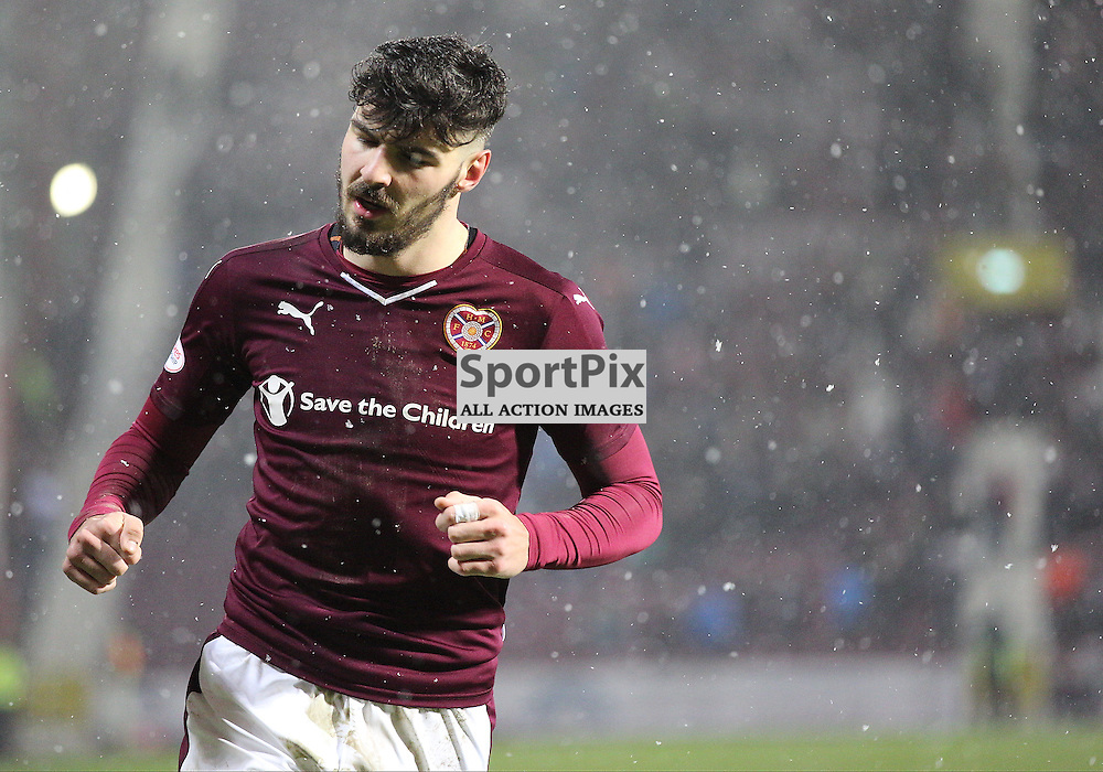 Hearts v Motherwell Scottish Premiership 16 January 2016; Callum Paterson (Hearts, 2) during the Heart of Midlothian v Motherwell Scottish Premiership match played at Tynecastle Stadium, Edinburgh; <br /> <br /> &copy; Chris McCluskie | SportPix.org.uk