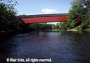 PA landscapes, Red Wentz Bridge, Tulpehocken River, Berks Co. PA