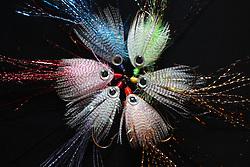 Flies tied by Jack Miller for Lou Komis, Monday, Dec. 26, 2011 at Komis Kastle in Crestwood.