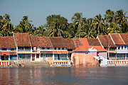 Houses and homes around the tank of the Thanumalayan Temple?, Suchindram, Kanyakumari, Tamil Nadu