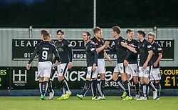 Falkirk's Bob McHugh celebrates after scoring their fourth goal. <br /> Falkirk 5 v 0 Alloa Athletic, Scottish Championship game played at The Falkirk Stadium. &copy; Ross Schofield