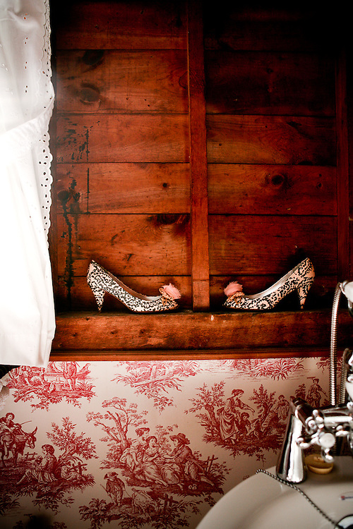 These J.Crew shoes awaiting their ceremonious time at October Wedding in Popham Beach, Maine.