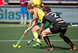 Hockey World Cup 2014<br /> The Hague, Netherlands <br /> Day 5- Men Australia v Belgium<br /> Jacob Whetton<br /> <br /> Photo: Grant Treeby<br /> www.treebyimages.com.au