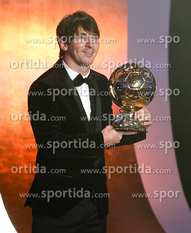 10.11.2011, Zürich, CH, FIFA Golden Ball Gala, in Barcelona's Lionel Messi during FIFA Golden Ball gala. January 10, 2011, EXPA Pictures © 2011, PhotoCredit: EXPA/ Alterphotos