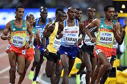 Mo Farah of Great Britain in action - Mandatory byline: Patrick Khachfe/JMP - 07966 386802 - 04/08/2017 - ATHLETICS - London Stadium - London, England - Men's 10,000m Final - IAAF World Championships