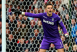 Jack Butland of Stoke City shouts - Mandatory by-line: Matt McNulty/JMP - 30/09/2017 - FOOTBALL - Bet365 Stadium - Stoke-on-Trent, England - Stoke City v Southampton - Premier League