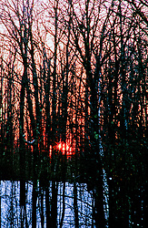 Sunset in the northwoods of Wisconsin.