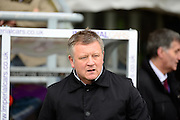 Northampton Town Manager Chris Wilder during the Sky Bet League 2 match between Northampton Town and Morecambe at Sixfields Stadium, Northampton, England on 23 January 2016. Photo by Dennis Goodwin.