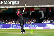 Tom Banton of Somerset goes on the attack during the Royal London 1 Day Cup Final match between Somerset County Cricket Club and Hampshire County Cricket Club at Lord's Cricket Ground, St John's Wood, United Kingdom on 25 May 2019.