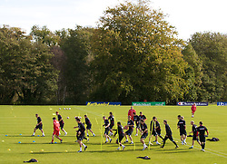 CARDIFF, WALES - Friday, October 10, 2008: Wales' players during training at the Vale of Glamorgan Hotel ahead of the 2010 FIFA World Cup South Africa Qualifying Group 4 match against Liechtenstein. (Photo by David Rawcliffe/Propaganda)