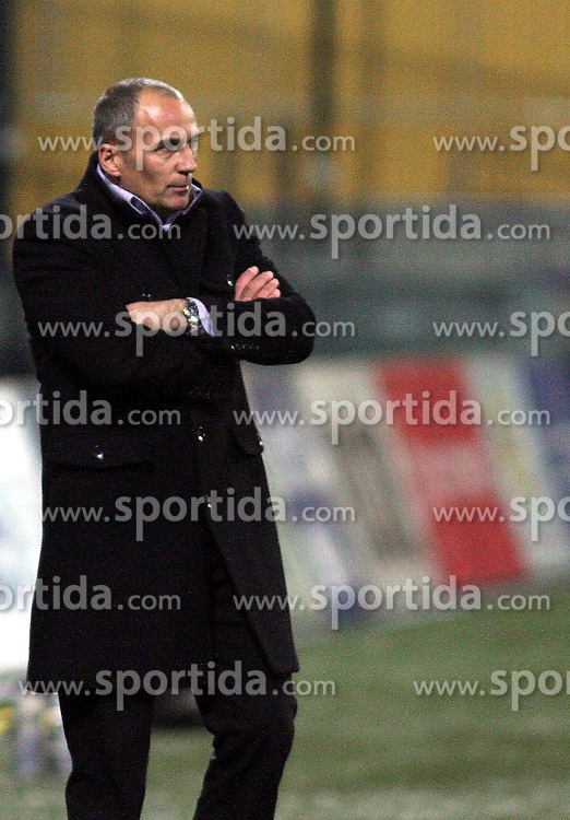 Head coach of Maribor Darko Milanic during the football match between NK Maribor and NK Domzale, played in the 18th Round of Prva liga football league 2010 - 2011, on November 20, 2010, at Stadium Ljudski vrt, Maribor, Slovenia.  (Photo by Marjan Kelner / Sportida)