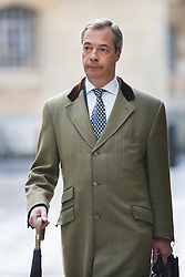 © licensed to London News Pictures. London, UK 02/03/2014. UKIP Leader Nigel Farage arriving at BBC Broadcasting House in London before appearing on the The Andrew Marr show on BBC One. Photo credit: Tolga Akmen/LNP